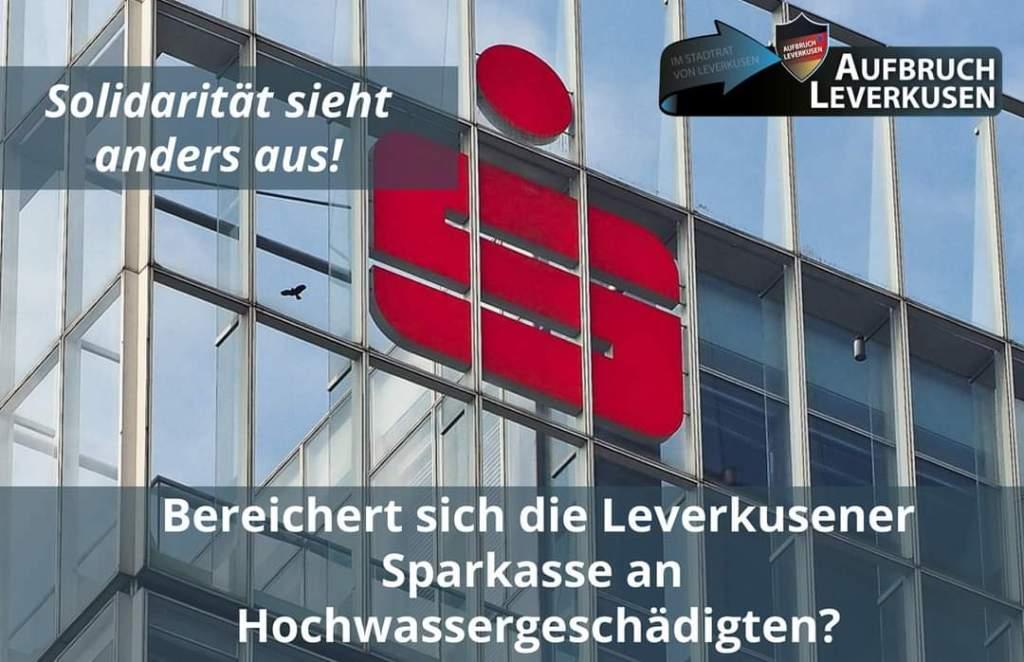 Die Sparkasse Leverkusen sollte sich schämen! - Aufbruch ...